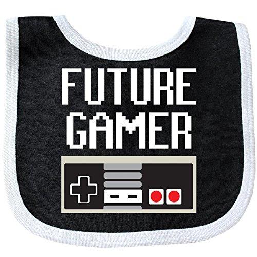 Inktastic - Future Gamer. Baby Bib Black/White 16674 from inktastic