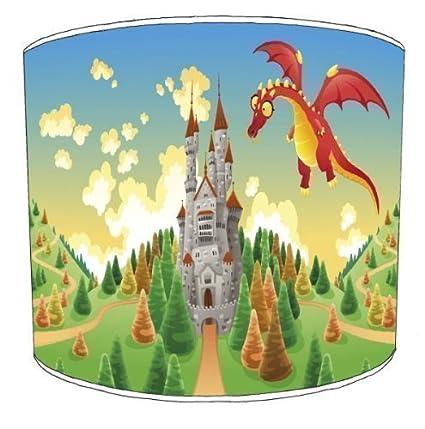 Lámpara de techo de arroz Premier de Dragón y princesas ...