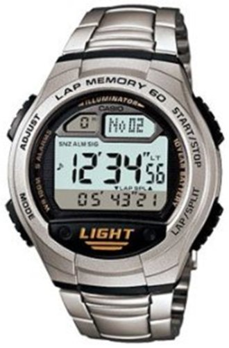 Casio W734D 1AV Silver Rubber Digital