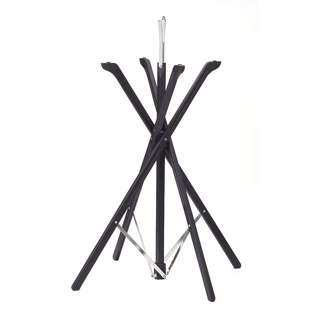 Tablecraft 335WBK 35'' Folding Tray Stand w/Rubber Grips, Black Wood Finish