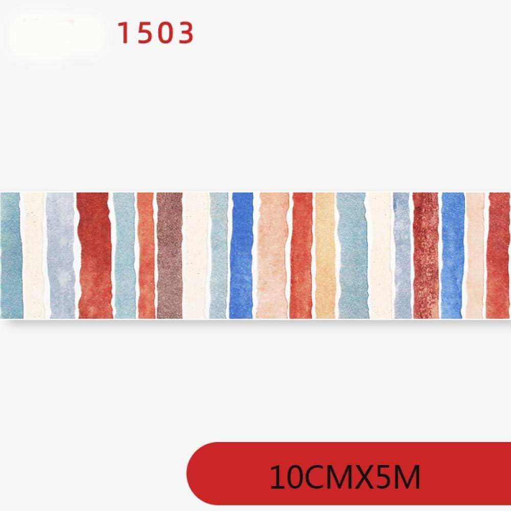 dick wasserdicht Deko-Aufkleber Vinyl blau Wanddekoration Tapetenbord/üre Badezimmer selbstklebend K/üche Fliesen