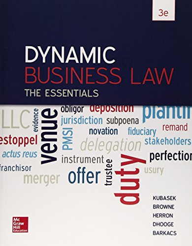 Dynamic Business Law:Essentials