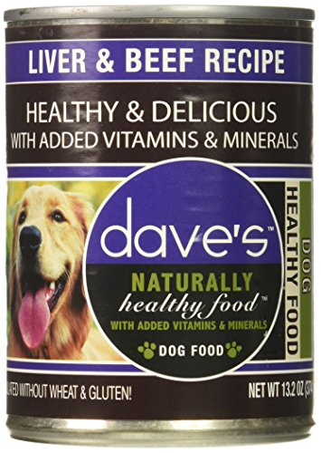 - Dave'S Naturally Healthy, Liver & Beef For Dogs, 13 Oz Can (Case Of 12 )