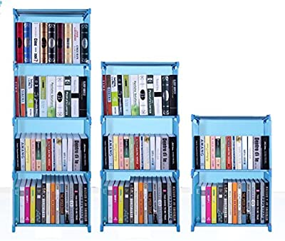 Hosmat 9-Cube DIY Children's Bookcase 30 inch Adjustable Bookshelf Organizer Shelves Unit, Folding Storage Shelves Unit