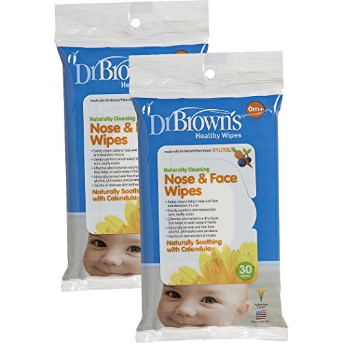Dr Browns Nose Face Wipes