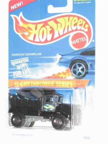 Flamethrower Series #4 Oshkosh Snowplow Black Construction Tires #387 Collectible Collector Car Mattel Hot Wheels 1:64 Scale