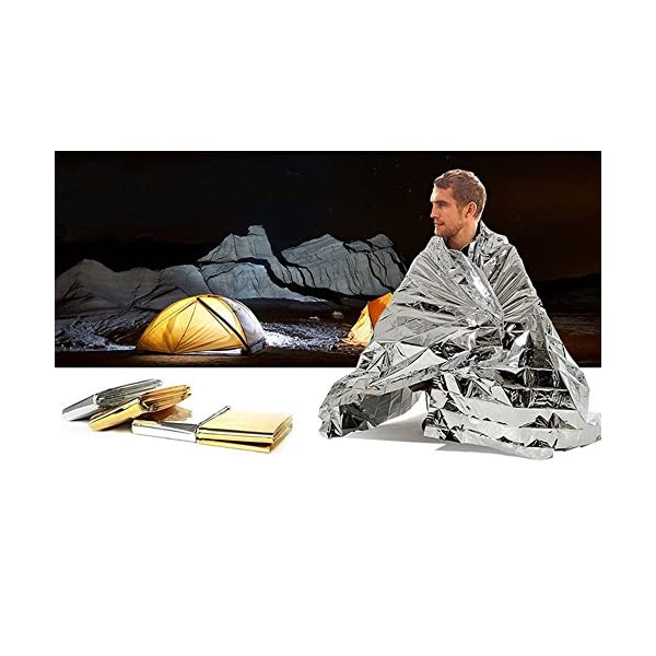 First Aid Emergency Blanket OKCSC Foil Reflective Thermal Suitable For Camping Hiking Earthquake Keep Warm Rescue Photogragh Reflection Blanket