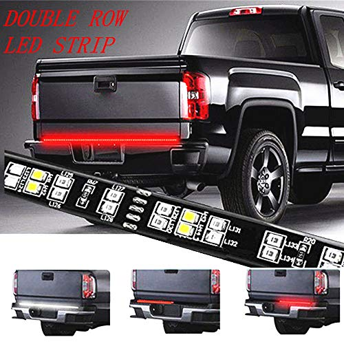 Wiring Watertight Pin (YLCVBUD 60 inch Pickup LED Tailgate Lights Bar Truck Brake Bed Light Strip Bar Waterproof Red/White Reverse Back up Running Lights, Brake Signal SUV RV Trailer)