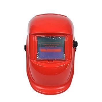 JINM Casco de Soldadura, Auto Oscurecimiento Soldadura Cortar Casco Máscara Ojos Protección Solar Pantalla LCD