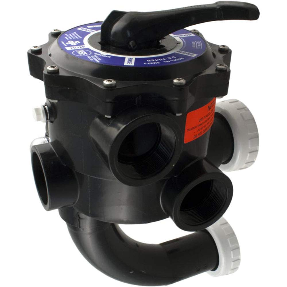 Praher SM2-SR2 2'' Multiport Valve with StaRite Plumbing - Black by Praher