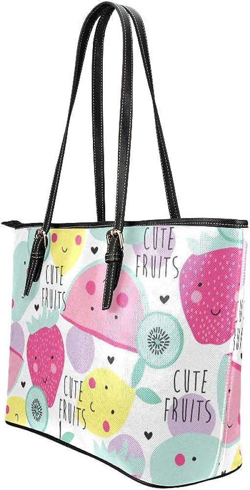 Totes Organizer Cool Sour Summer Cute Fashion Lemon Leather Hand Totes Bag Causal Handbags Zipped Shoulder Organizer For Lady Girls Womens Travel Bag Organizer