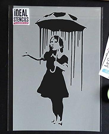 A5 A4 Umbrella Girl 2 190 micron Mylar Stencil durable /& sturdy A3***NEW***