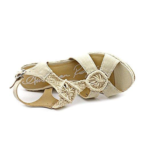 Amerikaanse Rag Gloria Womens Maat 10 Ivoor Canvas Sleehak Sandalen Schoenen