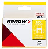Arrow Fastner 591168 15 Pack 1/4in. T59 Insulated Staple 4,500/Box, Clear