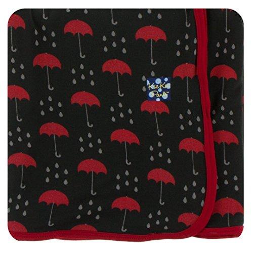 Kickee Pants Print Swaddling Blanket - Umbrellas and Rain Clouds