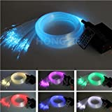 16W RGBW LED Fiber Optic Lights Star Ceiling Kit Lights 150PCS 0.75MM 5M
