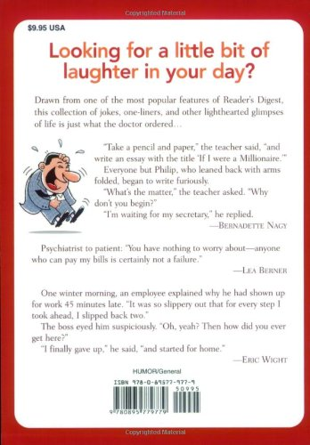 laughter the best medicine more than jokes gags laugh  laughter the best medicine more than 600 jokes gags laugh lines for all occasions reader s digest editors of reader s digest 9780895779779 books