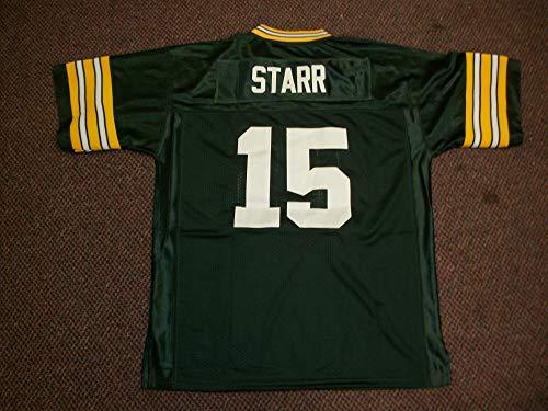 Bart Starr Unsigned Custom Sewn Green Bay Green New Football Jersey Size S, M,L,XL,2XL,3XL (XL)