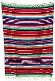 Mexican Sarape Bright Colors Bedspread (90'' L X 60'' W Twin, Red)