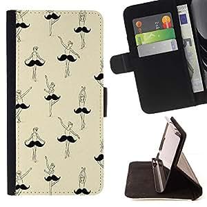 Momo Phone Case / Flip Funda de Cuero Case Cover - Moustache Art drôle - LG Nexus 5 D820 D821