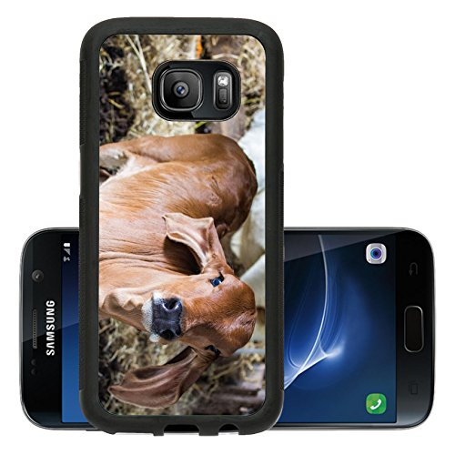 liili-premium-samsung-galaxy-s7-aluminum-backplate-bumper-snap-case-brown-cow-ears-long-fed-on-farms