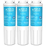 AQUACREST UKF8001 Replacement Refrigerator Water Filter, Compatible with Maytag UKF8001 UKF8001AXX UKF8001P, PUR Jenn-Air UKF8001, EDR4RXD1, Whirlpool 4396395, EveryDrop Filter 4(Pack of 3)