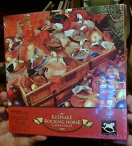(A Keepsake Rocking Horse Christmas 500 Piece Jigsaw Puzzle (Includes Brass Trimmer Ornament in Box) (Puzzle Plus Series))