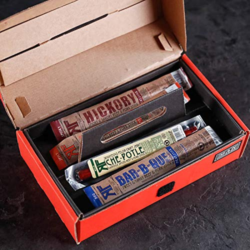 Man Crates Jerky Tool Box - Unique Gift For Men - Includes 14 Delicious Beef Jerky Flavors - In A Delightfully Surprising Tool-Shaped Box by Man Crates (Image #4)