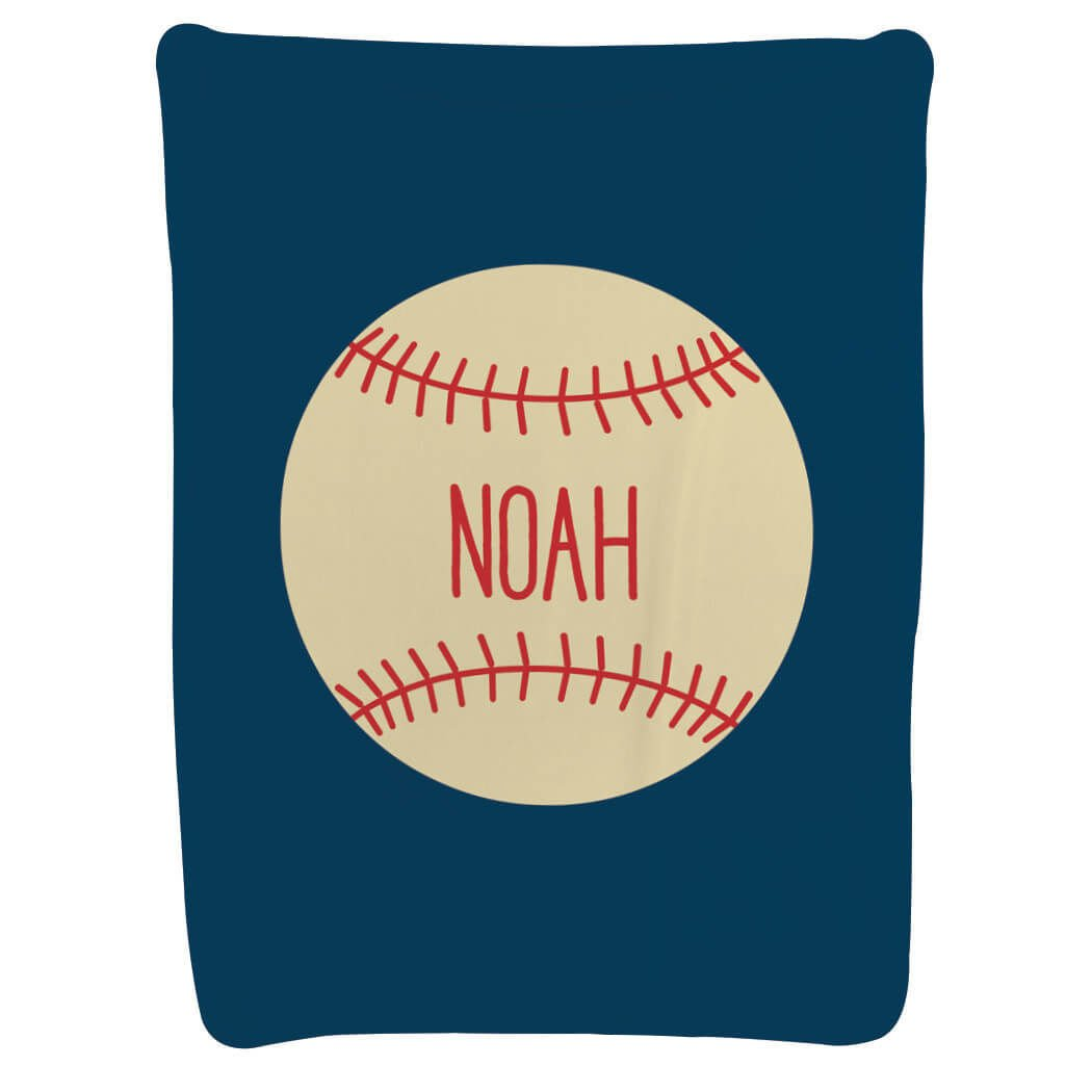 Baseball Baby & Infant Blanket | Personalized Baseball | Navy by ChalkTalkSPORTS