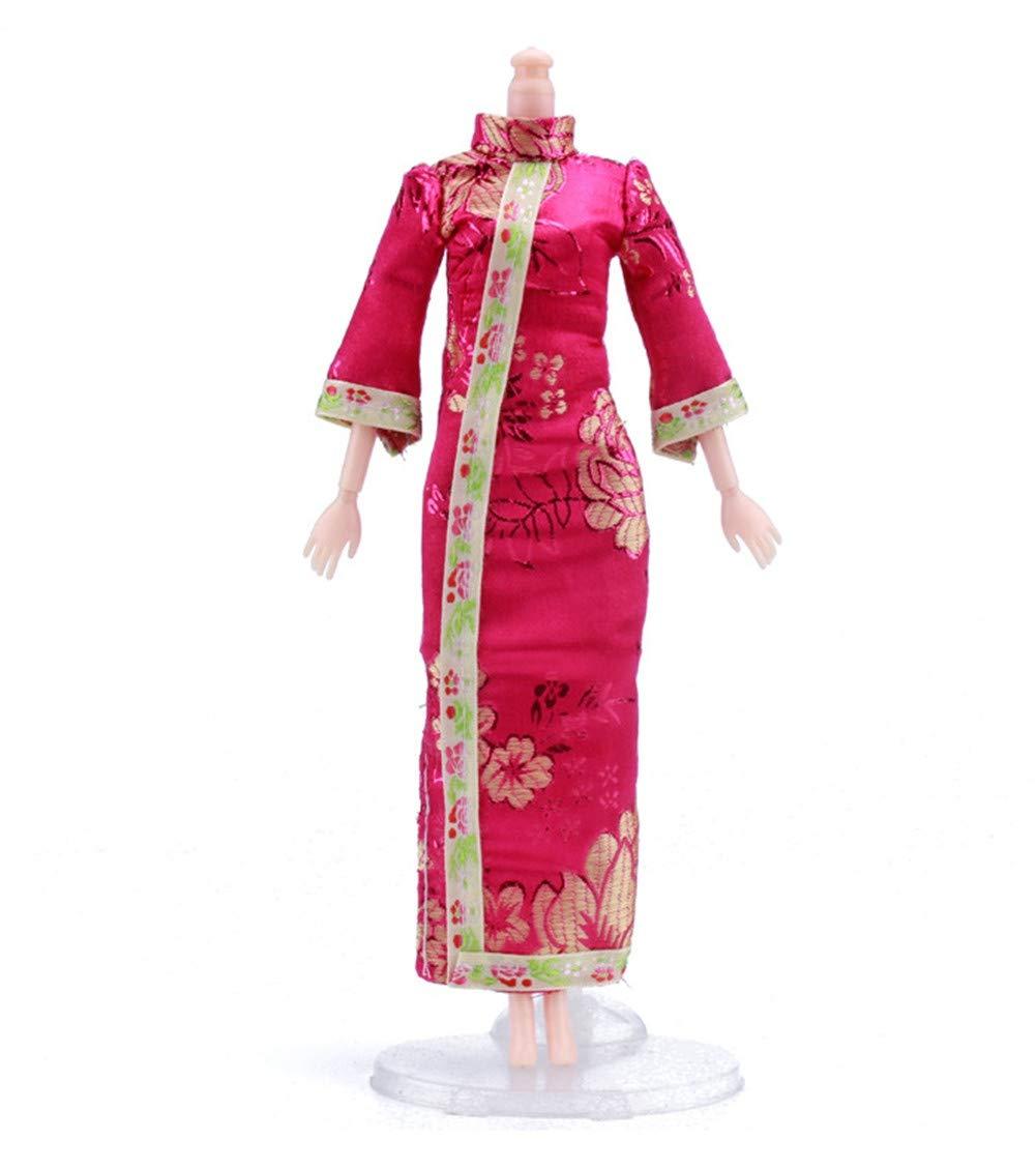 11,41 poup/ée Fully Ensemble 7 Couleurs Chinois Style Qing Robe Qipao Jupe /él/égante Costume pour 29cm