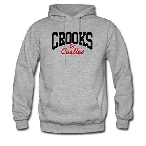 Soothing Men's and Women's Unisex Custom Crooks and Castles Classic Hoodie M Grey