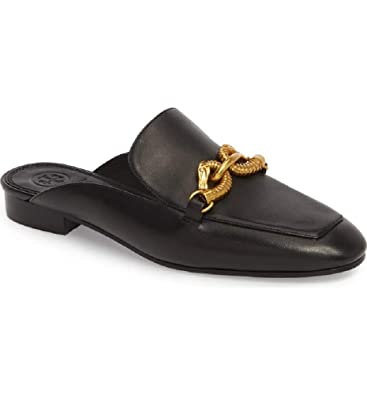 f1d533684 Tory Burch Women s Black Leather Jessa Loafer Gold Buckle (6.5 M ...