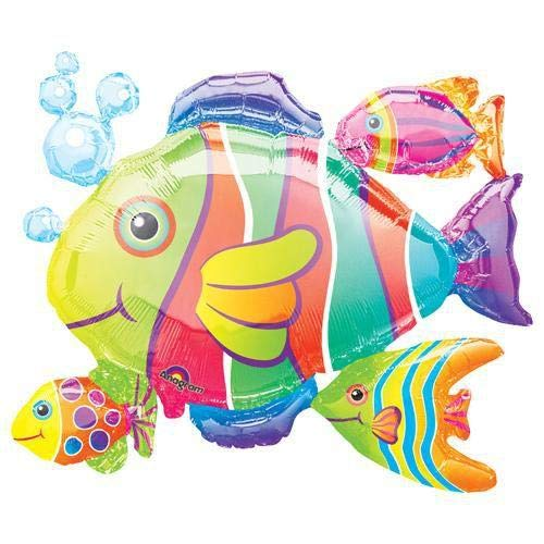 - Anagram 07647 Tropical Fish Cluster Foil Balloon 30