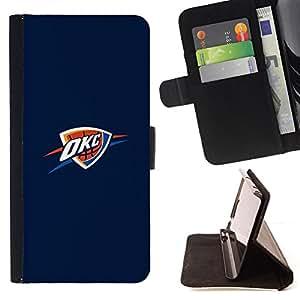 - OKC Basket - - Prima caja de la PU billetera de cuero con ranuras para tarjetas, efectivo desmontable correa para l Funny HouseFOR Samsung Galaxy A3