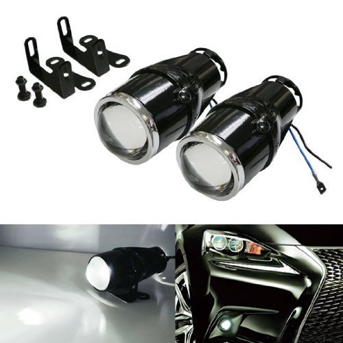 iJDMTOY (2 2.25-Inch Projector Fog Light Lamps Compatible with Most Car SUV Truck Bike Add-On or Retrofit DIY