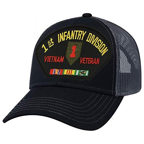 1st Infantry Division Vietnam Veteran Mesh Cap Black Division Vietnam Veteran Cap