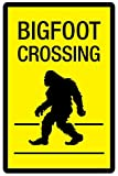 Bigfoot Crossing Sign Plastic Sign 12 x 18in