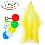rain ball - Rain Poncho,Disposable Emergency Raincoats Outdoor colorful Set of 5 Pieces Portable Hook Poncho Ball (All code)