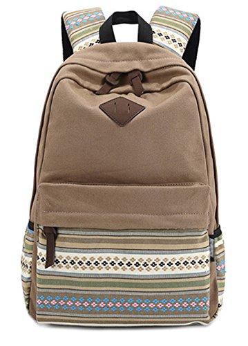 DATO Bolso Mochilas Escolares Casual Mochila de Lona para Mujer Backpacks Multifuncional Moda Juvenil de Gran Capacidad Viaje Mochila Khaki