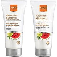 VLCC Watermelon & Bergamot Gentle Exfoliating Face Wash 2 X 2 X 150 ml, Pack of 1