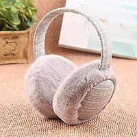4d9948804a6c Amazon.com: Lannmart Plush Female Winter Faux Rabbit Fur Earmuff ...