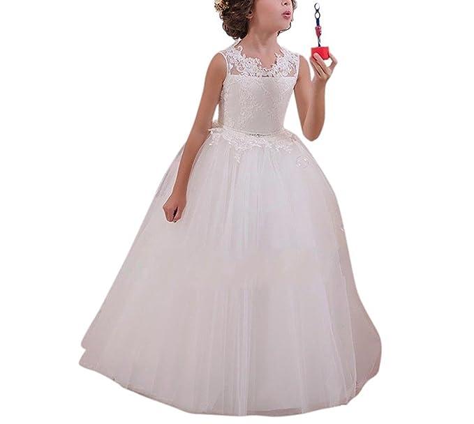 VIPbridal Vestido de cumpleaños de la boda del desfile de la primera comunión de la flor