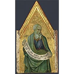 Oil Painting 'ugolino Di Nerio-Moses,about 1324-5' Printing On High Quality Polyster Canvas , 16x27 Inch / 41x69 Cm ,the Best Gym Decor And Home Decoration And Gifts Is This Reproductions Art Decorative Prints On Canvas