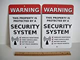 2 Home Security Alarm System 7x10 Metal Yard Signs - Stock # 704