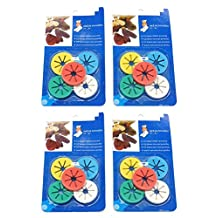 Cooplay 4 Sets of 40pcs Mini Circle Sock Clip Holders Stockings Ring Locks Washing Sorters Laundry Storage Organization Soft Rubber with 5 Multicolor (40)