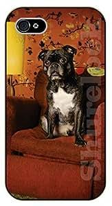 iPhone 6 Case Dog on sofa - black plastic case / dog, animals, dogs