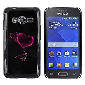 TopCaseStore / la caja del caucho duro de la cubierta de protección de la piel - Smoke Hearts Neon Pink Lamp Magucal Fairytale - Samsung Galaxy Ace 4 G313 SM-G313F
