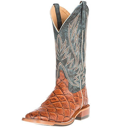 Anderson Bean Mens Cognac Siletsofish seas The Day top Cowboy Boots 11 D ()