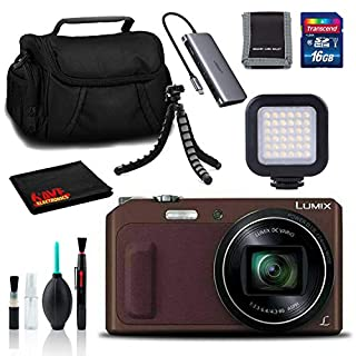 Panasonic Lumix DMC-ZS45 Digital Camera(Brown) - Bag, Tripod, 16GB SD, and More