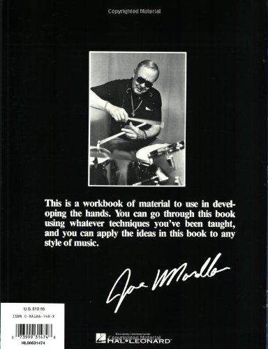 A picture of the back cover of the legendary drum book Master Studies by Joe Morello
